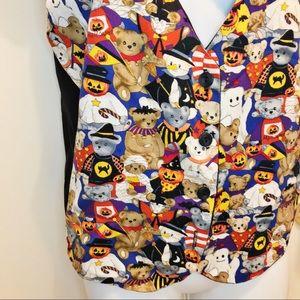 111 Main Jackets & Coats - 111 MAIN Vintage Halloween Vest Bears Costumes M